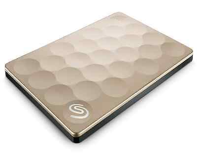 "1TB Seagate Backup Plus Ultra Slim Portable 2.5"" Gold"