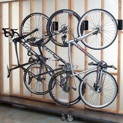 Feedback Velo Hinge Home Bicycle Storage Patent Pending Bike Wall Rack Black