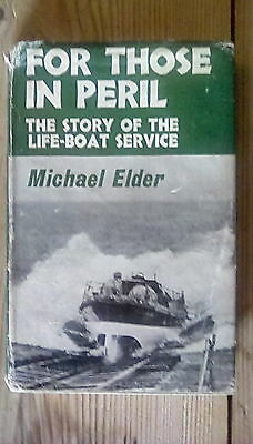"""Hardback book """"For those in peril"""" by Michael Elder 1963 first edition"""