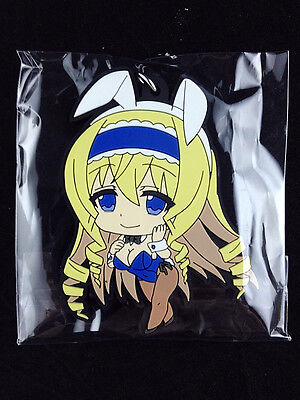 IS Infinite Stratos Cecilia Alcott Rubber Strap Key Chain official FREEing New
