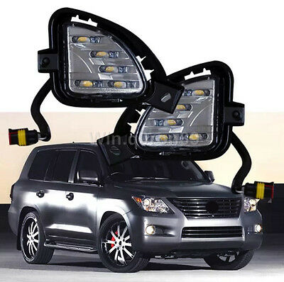 For Lexus LX570 2007 2008 2009 Car Front LED Daytime Running Lights Day Fog Lamp