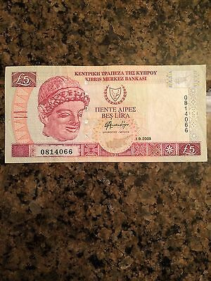 2003 Central Bank of Cyprus 5 Pounds