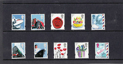 GB 2010  Business & Consumer Smilers - M/S - Set of Single Stamps - Mint.