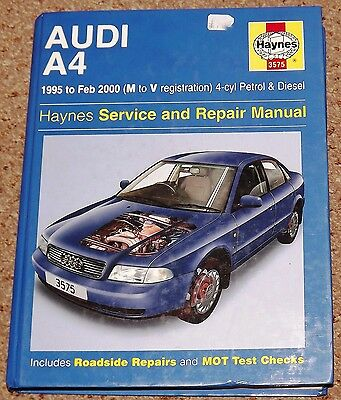 Haynes 3575 Service & Repair Manual Audi A4 1995-2000 - In Good Used Condition