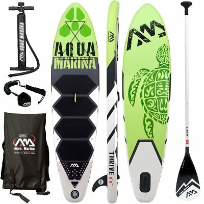 AQUA MARINA THRIVE SUP inflatable Stand Up Paddle Board 150mm Dick Sport Paddle