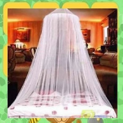 White Mosquito Canopy Net with FREE Travel Bag - Fits All Size Beds 10x2.5mtr