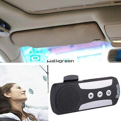 Car Wireless Bluetooth Multipoint Handsfree Speakerphone Kit For Mobile Phone WN