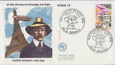 Aviation Balloons France 1973 Santos Dumont FDC