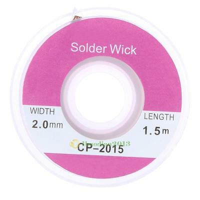5 ft 2.0mm Desoldering Braid Solder Remover Wick Wire CP-2015 Repair Tool New