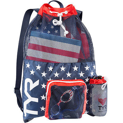 NEW TYR Big Mesh Mummy Backpack USA – Red/White/Blue