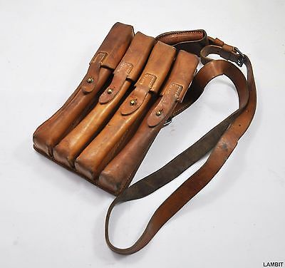 Original leather pouch case for ammo gear from Serbian Army - RARE (1)