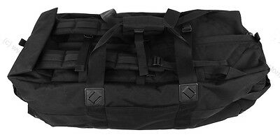 British Army Black Deployment Bag Used Military Cadets Airsoft Paintball