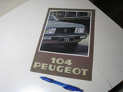 Peugeot 104 ZL ZS French Brochure 1978