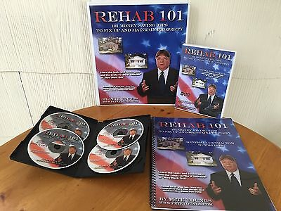 Pete Youngs Real Estate Rehab 101 Boot Camp Package - 2 MANUALS, DVD & 4 CDS!