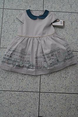 NEW Mamas and Papas Cotton Border Print Special Edition Party Dress 6-9 Months