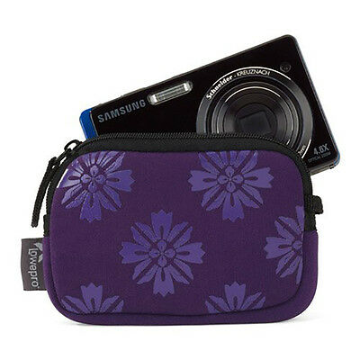 New Lowepro Melbourne 10 Compact Camera Case Neoprene With Zipper Closure Purple