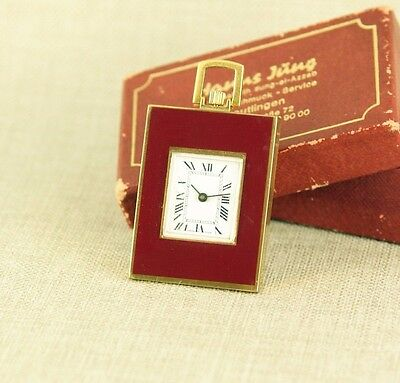 miniature Art Deco Pocket Watch traveling clock Uhr Taschenuhr Reiseuhr RAR 掛表