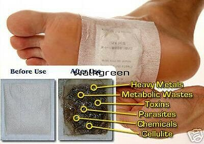 100 Detox Foot Pads Patch Detoxify Toxins Adhesive Keeping Fit Health Care WN