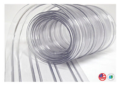 "8"" Plastic Strip Curtain for Walk In Coolers, Warehouse Doors, and Clean Rooms"
