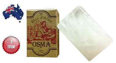 BLOC OSMA DE FRANCE  ALUM BLOCK  75 gr.  x 2 PIECES - AUS SELLER