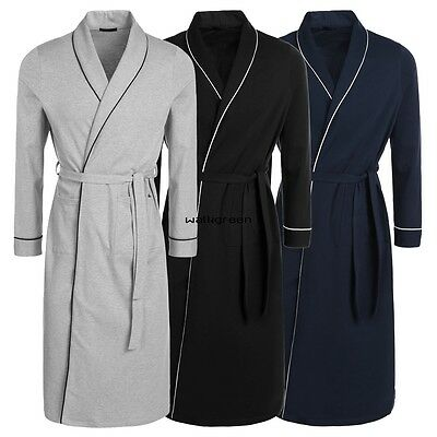 Cotton Lightweight Woven Avidlove Men Long Robes Bathrobe Pajamas Gown WN