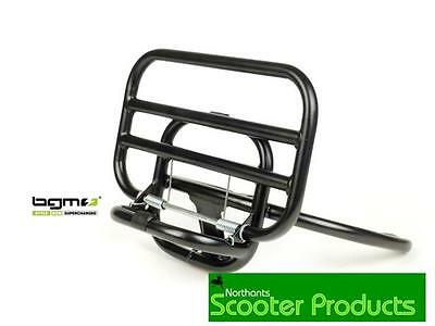 Bgm   Black Front Rack New Fits Vespa Gts 125 250 300
