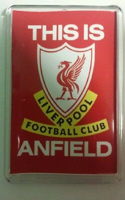 Liverpool fc fridge magnet with optional pull out stand .