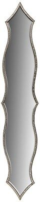 NEW Antique Silver Metal Moroccan Ethnic Style Curved TALL SLIM Wall Mirror 97cm