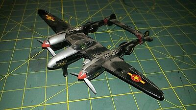 Vintage P-38 J/L Lighting Pudoy IV Fighter Plane Diecast Model Aircraft HO OO