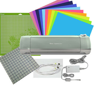 """Cricut Explore Air 2 with 10 Sheets 12""""x12"""" ORACAL 651 Vinyl and Transfer Tape"""