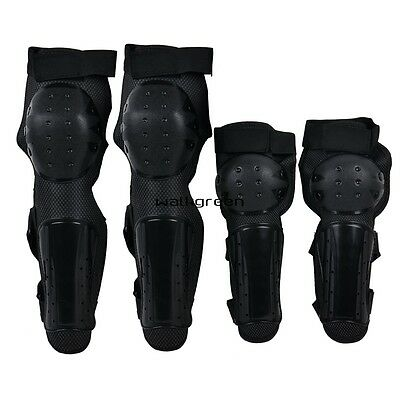 Racing Knee Guards Protective Gear Pads Motorcycle Black 3 7 W E WN