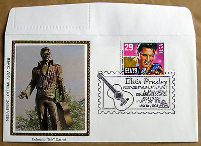 Elvis Presley First Day Cover  May 8Th 1993 Asda Station Ny Colorano Silk Cachet