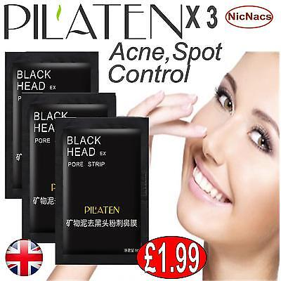 Blackhead Pore Peel Off Mask Cleansing Cleaner X3 Spot Removal Mineral Mud UK