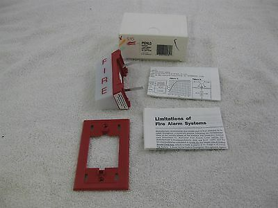 System Sensor PS24LO Fire Alert Strobe Light Red Wall Mount 24 VAC NEW IN BOX