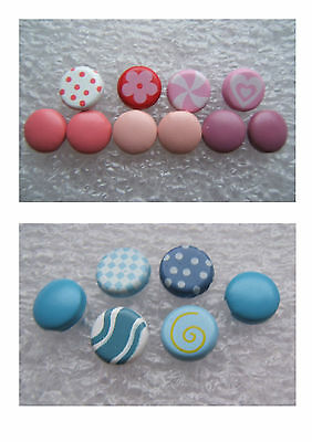 Decorative Pink & Blue Brads for Card making, Scrapbooking & Crafting New item