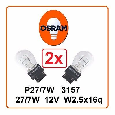 2x P27/7W 3157 OSRAM 12V 27/7W T25 auto Headlight indicator wedge lamp halogen