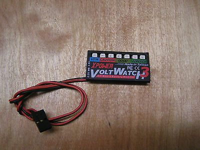 Irvine volt watch 3 on board Battery Monitor checker 4.8 6V Airplane Helicopter