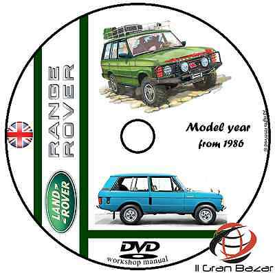 Manuale Officina Land Rover Range Rover My 1986 Workshop Manual Service Dvd