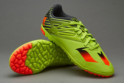 ADIDAS BOYS MESSI 15.3 ASTRO TURF FOOTBALL TRAINERS ALL SIZES FROM 10 TO 5.5 gre