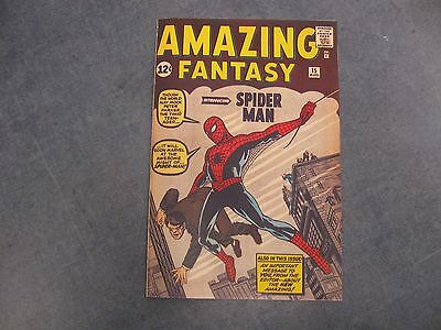 Facsimile reprint covers only to Amazing Fantasy #15 for Hooperal