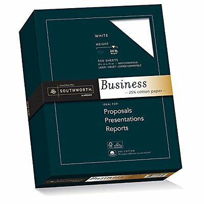 Southworth 25% Cotton Business Paper, 8.5x 11 inches, 24 lb, White, 500 Sheets