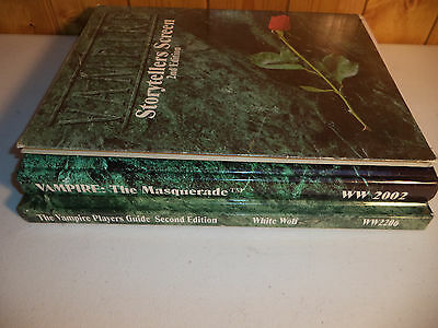 VAMPIRE THE MASQUERADE 2nd EDITION White Wolf RPG Book Roleplaying Book Set!!