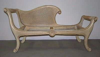 Vintage French Provincial Louis XV Petite Chaise Lounge Day Bed 061503