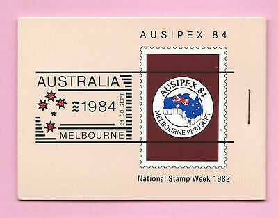 AUSTRALIA 1982 BOOKLET - AUSIPEX 84 National Stamp Week 1982 (Brown) - Complete