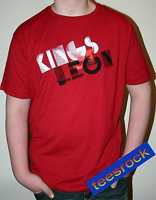 Kings of Leon Logo Red Rock T Shirt in Size XL