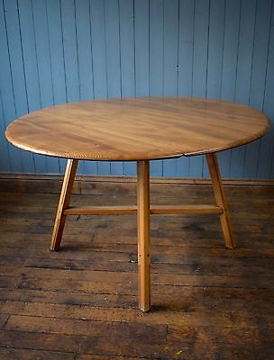 Vintage Ercol Oval Drop Leaf Blonde Dining Table Kitchen CAN DELIVER