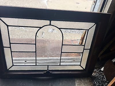 Vintage American Architectural & Floral Etched 1920's Window From Mansion