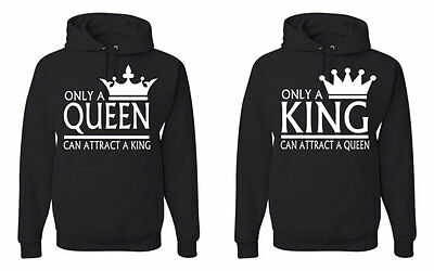 King And Queen Sweatshirt Couple Matching Hoodie Valentine S Day Jacket Cupid
