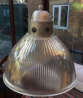 Industrial Vintage Factory Holophane Pendant Lamp Light Shade