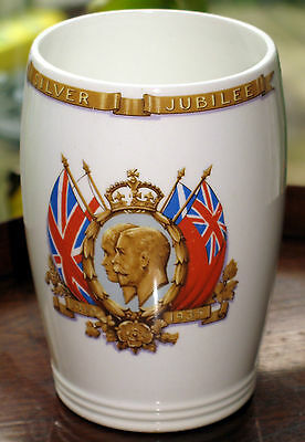 Commemorative : King George & Queen Mary Silver Jubillee Beaker - Presented
